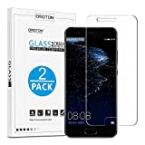 OMOTON Huawei P10 Screen Protector [2 Pack]- [9H Hardness] [Crystal Clear] [Bubble Free] Tempered Glass Screen Protector for Huawei P10