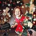 EleLight Projektor Beleuchtung abwechselnde Schneeflocken Bilder mit Fernbedienung Partys, Weihnachten, Atmosphäre, Hochzeit IP65