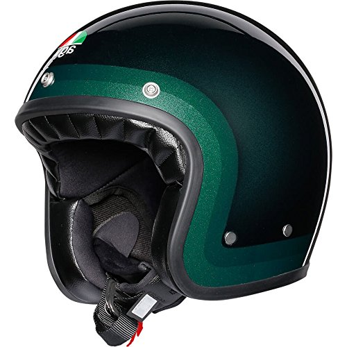 AGV Legends X70 Retro Open Face Scooter - Casco de moto, color verde