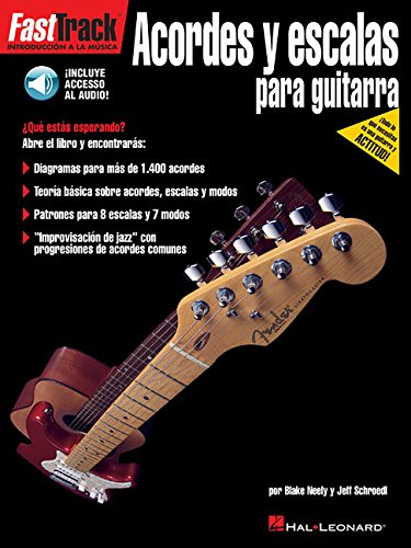 Fast Track Guitar Chords & Scales Spanish Edition Bk/Cd
