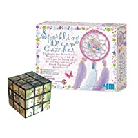 The Good Gift Shop Get Creative Making Your Own Dream Catcher - Comes with a Fun Wild Animal Magic Cube