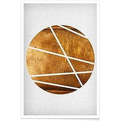 """JUNIQE® Poster 20x30cm Abstrakt & Geometrisch - Design """"Circle"""" (Format: Hoch) - Bilder, Kunstdrucke & Prints von unabhängigen Künstlern - Abstrakte und moderne Kunst - entworfen von Froilein Juno"""
