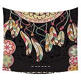 VICGREY Appeso Parete, Hippie Tapestry, Wall Hanging Decorativo, Bohemian Decorativo Parete Mat Stampa Arazzo Appeso Parete Arazzo Home Decor Telo da Mare - Spiaggia Natura Scenario Arazzo
