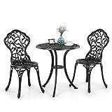 null Questo è un tavolo elegante e classico bistrot & sedie insieme. Si applica in alluminio di alta qualità, mestiere, bella a polvere foglie design, degno di possedere. È possibile rilassarsi o godere di un momento felice per il tempo l...