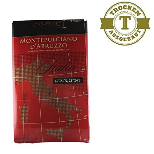 Bag in Box Rotwein Italien Montepulciano d´Abruzzo 2015 trocken (10,0L) - VERSANDKOSTENFREI -