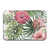 dewdferf Non-Slip Doormat Safflower Palm Durable Mat rug Bathroom Bedroom Floor Carpet