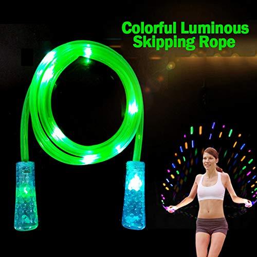 Juntful Springseil, leuchtende Farben, für Kinder und Erwachsene, Fitness-Outdoor-Aktivitäten