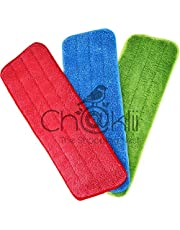 CHAKLII Wishpool Microfiber Spray Mop Replacement Head Pad (Colour As Per Availability) -Set of 3