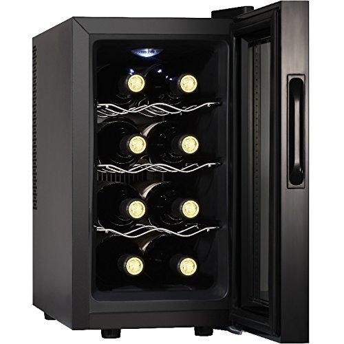 Bevande Syntrox Germany fresco armadio 8 bottiglie digitale per WK-25L - 8-3 vino freddo armadio con touchscreen
