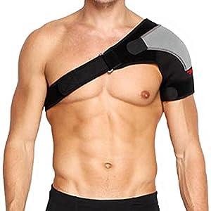 MAIBU Verstellbare Schulterstütze Lightweight Gym Sport Therapie Neopren Schulterstütze Strap Wrap für Männer und Frauen