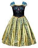 AmzBarley Filles Robe de Princesse Anna Reine des Neiges Couronnement Costume...