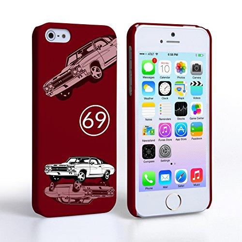 Caseflex iPhone 5 Coque Rigide Chevrolet Chevelle Violet Classique