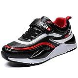 HSNA Chaussures pour Enfants Garçon Mode Baskets Fille Antidérapantes Chaussures d'école(Noir 37 EU)...