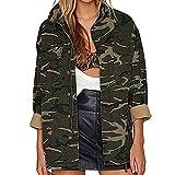 Soupliebe Frauen Lässig Camouflage Print Pullover Lange Ärmel Knopf Reißverschluss Mantel Top...