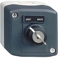 """Schneider Electric XALD142 Harmony Caja con 1 Pulsador Giratorio, 22 mm Diámetro de la llave, Interruptor Llave 'Ciclo de Potencia' 1""""F"""""""