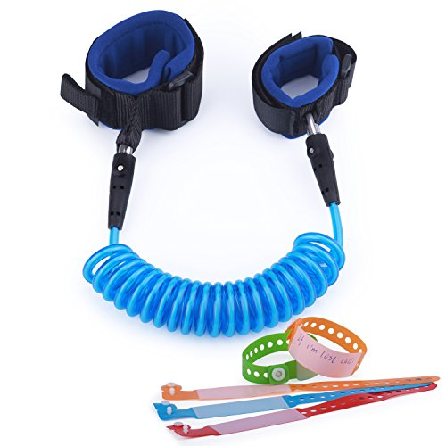 KINDEN Sicherheitsleine Anti Verloren Sicherheitsgurt Baby Sicherheit Handgelenk Band Klettverschluss Haltegurt Halteseilfür Kinder