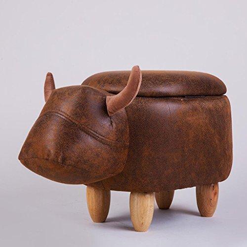 Baby-kalb Schuhe (Sofa Hocker Xuan - Worth Having Braune kreative Kalb-Art, die einen Schuh-Hocker trägt, für Schuh-Hocker-Speicher-Hocker Moderne Einfachheit (Design : Storage))