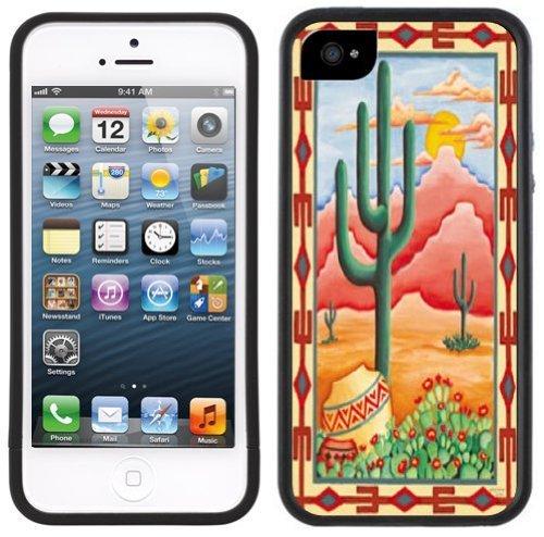ouucase Cactus du Sud-Ouest iPhone 55S Étui Noir DIY HD Housse PC Pour New Design