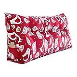 YUN-X Bedside Kissen Doppelsofa großes Rücken Doppelbett weiche Tasche Kissen Dreieck Taille Lendenkissen (Farbe : B, größe : 100cm)