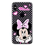 iPhone XS Max Couverture Coque Cover TPU Gel Transparent, Doux, Garde, Protecteur, Disney Special Collection Spéciale, Minnie Mouse À Pois, iPhone XS Max