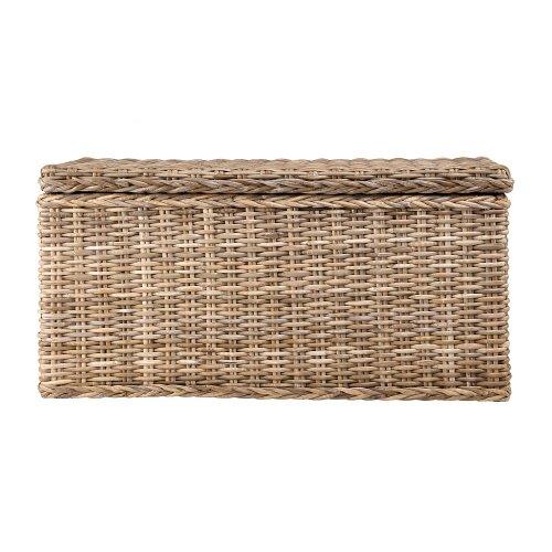 """URBANARA Korb """"Java"""" 100% Rattan (80 x 41 x 41 cm, Hellbraun) – Wäsche-Korb, Aufbewahrung, Wäsche-Truhe, Wäsche-Box, Wäsche-Beutel, Wäschesack"""