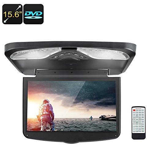15,6pulgadas de monitor de techo del coche reproductor de DVD con 1366x 768p, AV, USB, SD, Región Libre DVD, transmisor de Radio FM, altavoz integrado, juego de 32bits apoyo