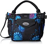Desigual Bols_bollywood Mcbee, Women's Shoulder Bag, Schwarz (Negro), 17x28.5x29 cm...
