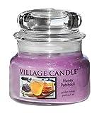 Village Candle Honig und Patchouli kleine Duftkerze im Glas, 312 g, violett, 9.6 x 9.3 cm