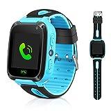 Montre connectée enfants GPS tracker pour enfants, filles, garçons, cadeaux de Noël, anniversaire avec fonction lampe de poche et appareil photo