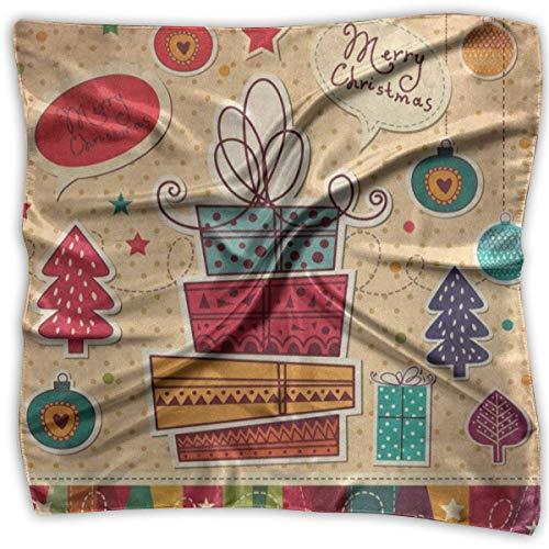 Square Scarf Vintage Bell Polka Dot Handkerchief Unisex Neck Head Tie for Woman (Dot Polka Leuchten)