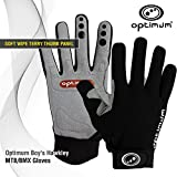 Optimum Men's Hawkley MTB/BMX Gloves, Black, Large
