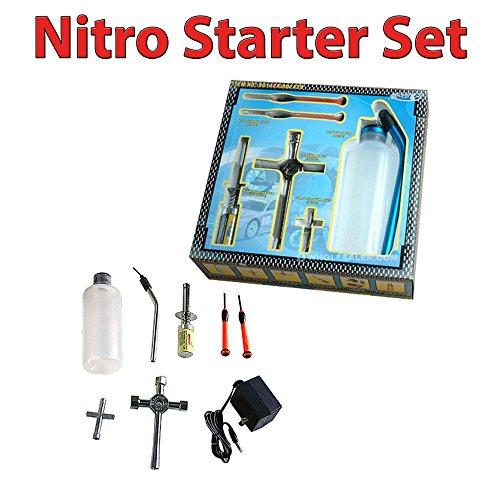 Nitro-Starter set für Jamara, Carson und HSP-Himoto Modelle, passend für RC ferngesteuerte Verbrenner-Fahrzeuge, Auto, Neu