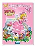 Super Malbuch Märchenwelt, Glitzercover, Märchen, Malen, Farbvorlagen, 64 Seiten