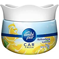 Ambi Pur Car Freshener Gel, Refreshing Lemon, 75 g
