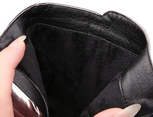 JAZS® moda Stivaletti in pelle scamosciata Stivaletti Martin inverno tacco a punta acuto Comodo, resistente all'usura, sexy, dolce. ( Colore : Nero , dimensioni : 35 ) Nero