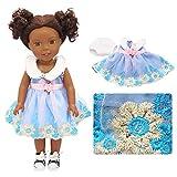 ACHICOO Puppenanzug Kleid für 14-Zoll-Mädchen Puppe Blau 14 Zoll tragen