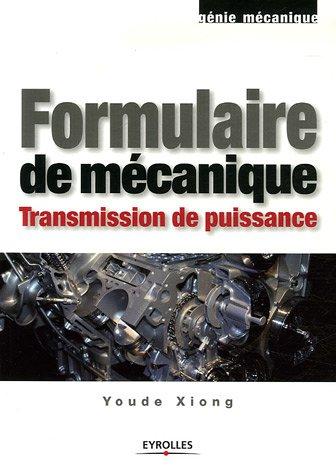 Formulaire de mécanique: Transmission de puissance