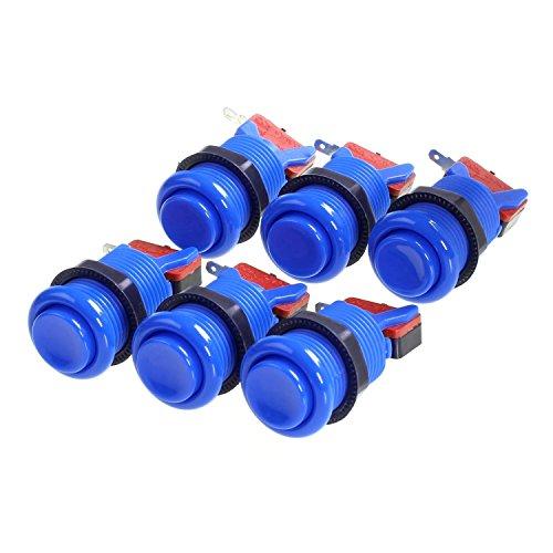 amatek-6-pcs-happ-arcade-push-button-with-microswitches-blue