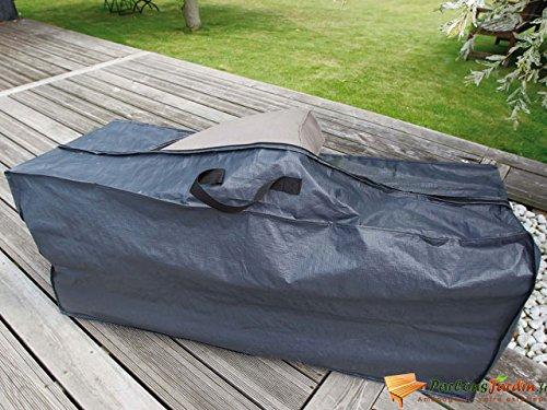 Nature Housse pour coussin 57 x 128 37 cm PE gris foncé 6030609