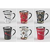 COFFRET 6 TASSES ESPRESSO COFFE 15CL ASSORTIES