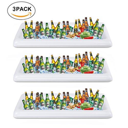 und Salatbar mit Ablaufstopfen. 3 Stück weiß ()