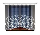 HAFT® Gardine; Store; Vorhang transparent, elegant weiß, Kräuselband (180 x 300 cm)