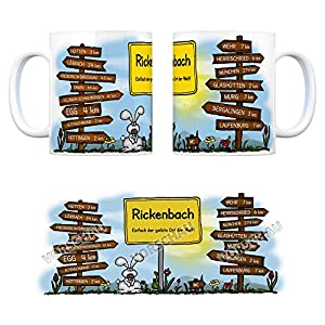 Rickenbach (Hotzenw.) - Einfach der geilste Ort der Welt Kaffeebecher - eine coole Tasse von trendaffe - passende weitere Begriffe dazu: Stadt-Tasse Städte-Kaffeetasse Lokalpatriotismus Spruch kw Egg Wehr Hütten Lörrach Glashütten Bergalingen Freiburg