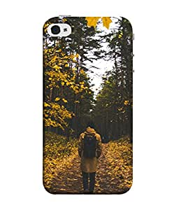 PrintVisa Designer Back Case Cover for Apple iPhone 5S (Its Autumn In The Forests )