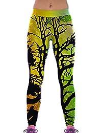 Lovelife' Women Colorful Forest Digital Printed Yoga Workout Capri Leggings