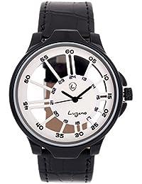 Lugano Black Transparent Analog Watch For Men/Boys (LG 1065)
