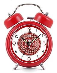 Moda pastoral tranquila, campana campana despertador doble luminosa sencillez artes creativas
