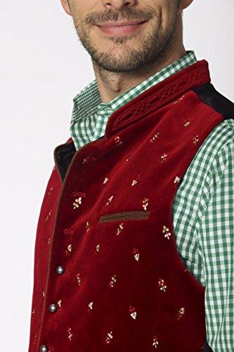 Stockerpoint - Herren Trachten Weste in verschiedenen Farbtönen, Calzado, Größe:58, Farbe:Dunkelrot - 5