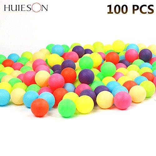 Farbig Ping-pong-bälle (100 Stücke 40mm 2,4g Farbige Ping Pong Bälle Unterhaltung Tischtennisbälle Mischfarben für Spiel und Werbung)