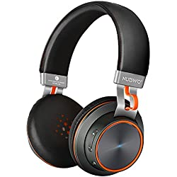 NUBWO S2 V4.1 Casque Bluetooth on-Ear sans Fil de HiFi Stéréo Headset Headphones avec Un Microphone pour Smartphones, Tablets, Ordinateurs Portables & PC - Noir